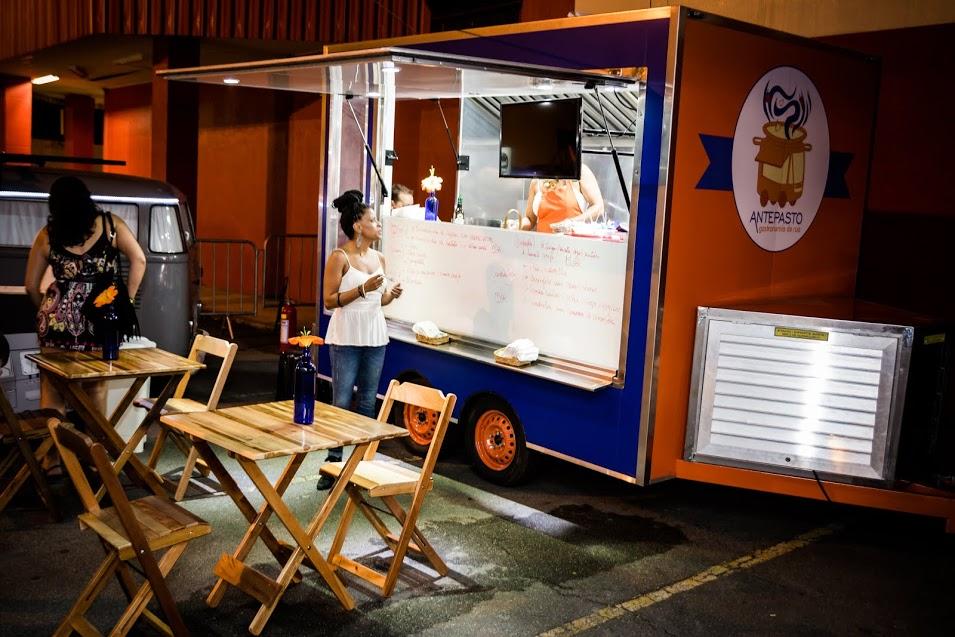 Truck de massas e saladas do Antepasto - Crédito: Gabriel Souto