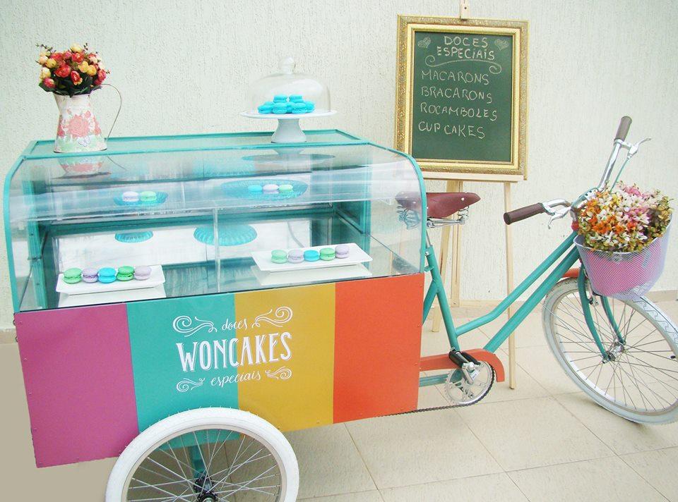 Bike de doces da Woncakes