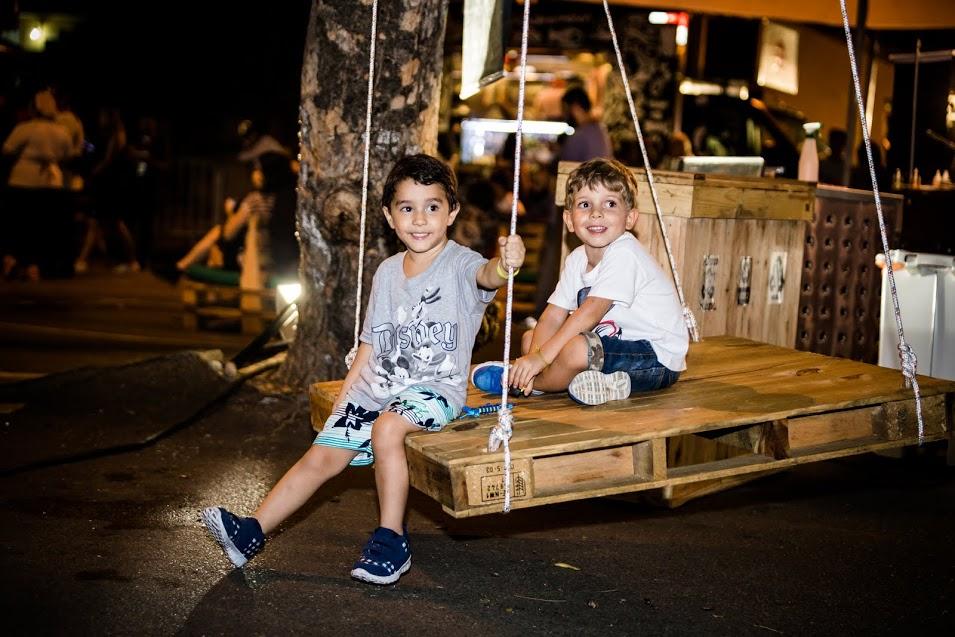 Balanço da Casa do Pallet promete ser destaque entre as crianças no Food Park Carioca