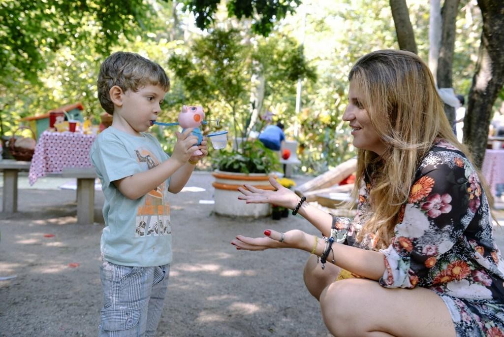 Priscila Correia e o filho Theo