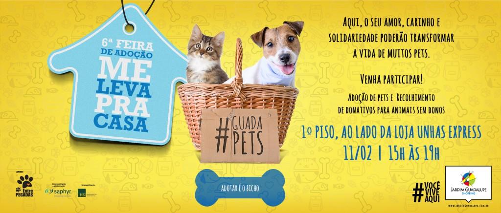 Feira de Adoção de Animais cartaz - 11 fev - Shopping Jardim Guadalupe