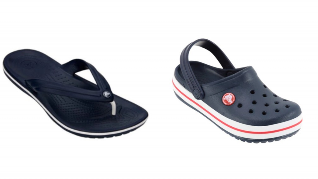Chinelo para o pai - R$99,00 Croc para o filho - R$139,00 www.netshoes.com.br