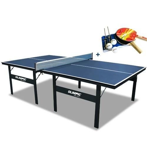 Tênis de Mesa, Ping Pong Klopf Olimpic 15 mm MDP com Pés Dobráveis + Kit Raquetes, Bolinhas e Rede - R$579,90 - www.americanas.com.br
